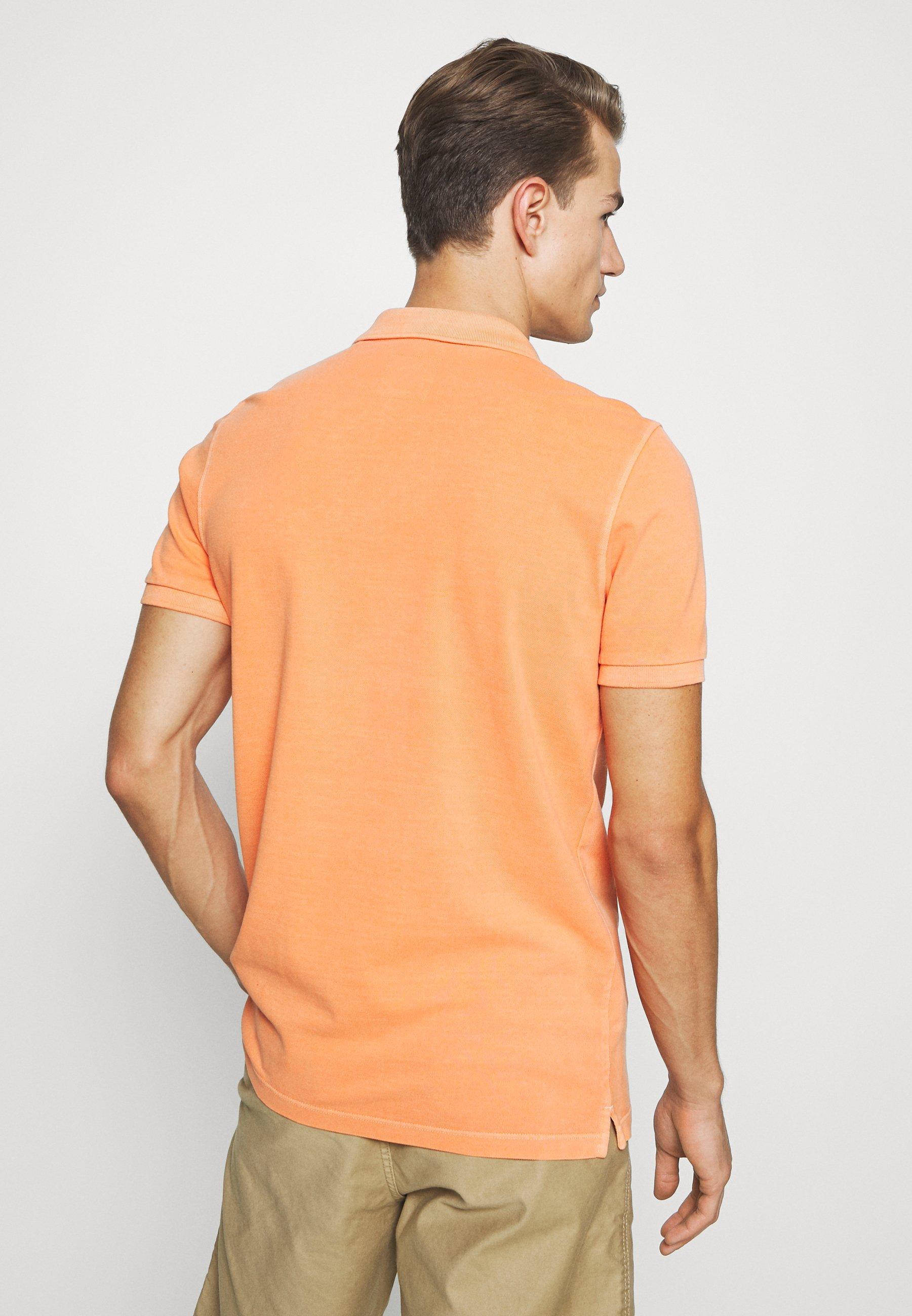 Marc O'Polo SHORT SLEEVE BUTTON PLACKET - Polo shirt - orange P0ztc