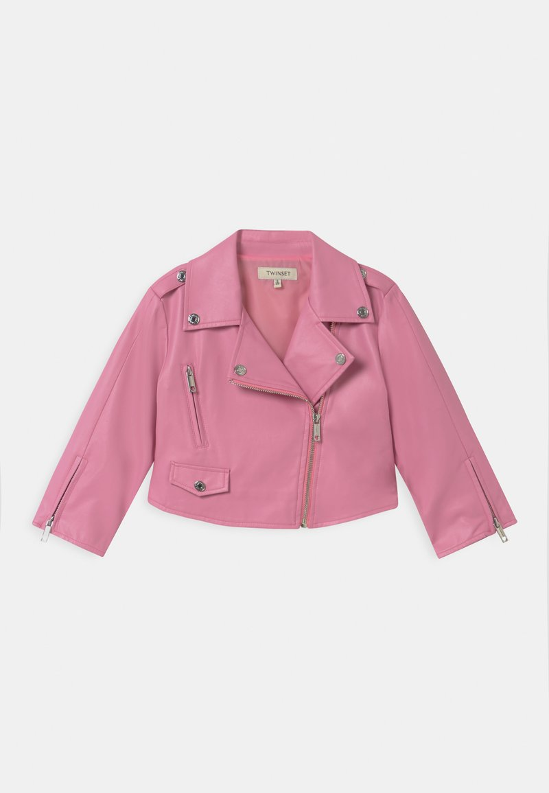 TWINSET - Faux leather jacket - rose bloom
