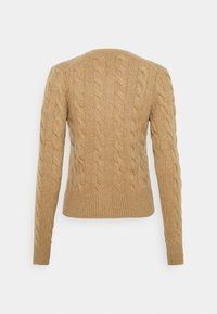 Polo Ralph Lauren - CARDIGAN LONG SLEEVE - Cardigan - luxury beige heather - 1