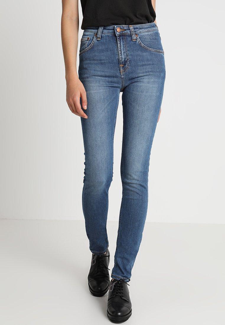 Nudie Jeans - HIGHTOP TILDE - Jeansy Skinny Fit - blue stellar