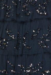 Maya Deluxe - EMBELLISHED STRAPLESS TIERED MAXI DRESS - Společenské šaty - navy - 6