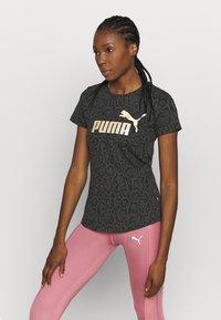 Puma - TEE - T-shirts med print - puma black - 0