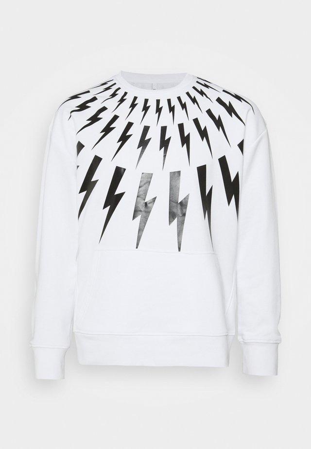 THUNDERBOLT - Sweatshirts - white/black
