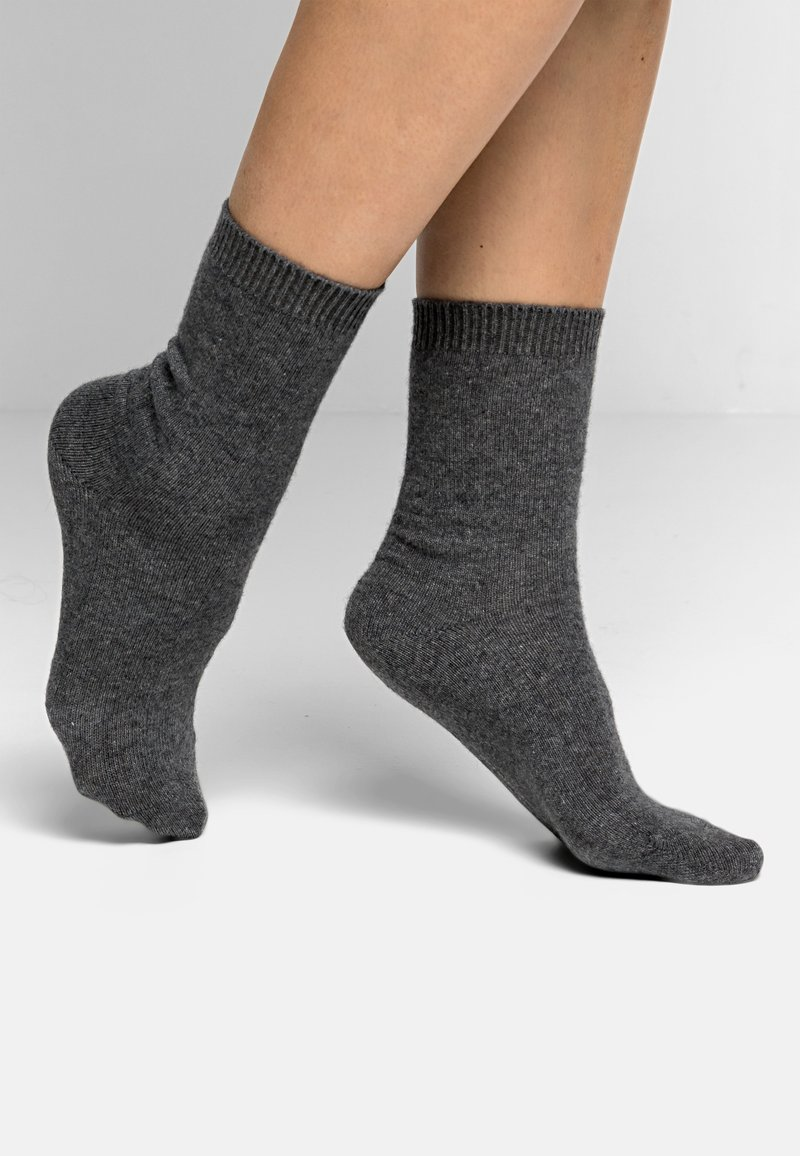 FALKE - COSY WOOL - Socks - light grey mel