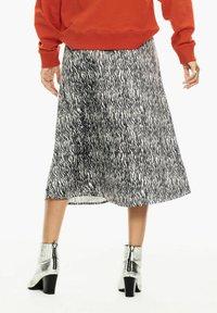 Garcia - WITH ZEBRA PRINT - A-line skirt - black - 2