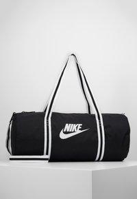 Nike Sportswear - HERITAGE - Sports bag - black/white - 0