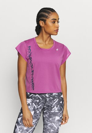 RUN - T-shirt con stampa - digital grape/french blue