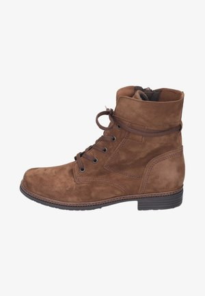 Lace-up ankle boots - new whiskey