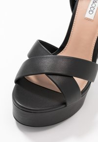 Even&Odd Wide Fit - LEATHER - Sandaler med høye hæler - black - 2