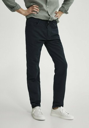 Stoffhose - blue-black denim