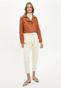 DeFacto - Faux leather jacket - brown - 1