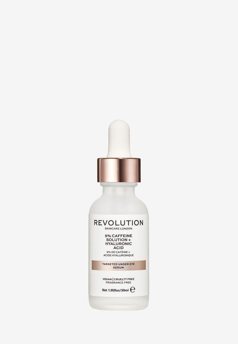 Revolution Skincare - REVOLUTION SKINCARE TARGETED UNDER EYE SERUM 5% CAFFEINE SOLUTION + HYALURONIC ACID - Soin des yeux - -