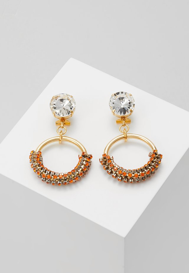 Earrings - orange