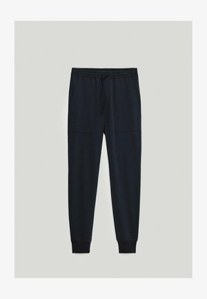 Tracksuit bottoms - blue-black denim