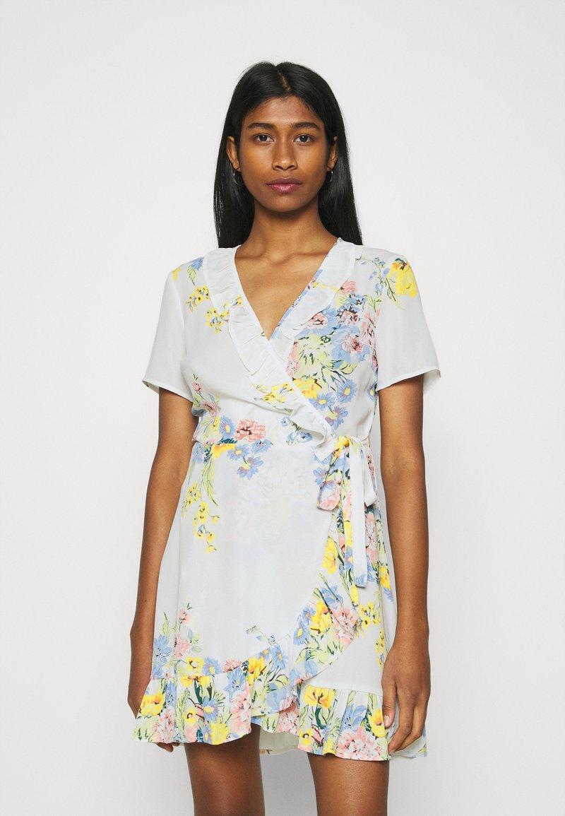 ONLY - ONLALMA LIFE WRAP DRESS - Day dress - cloud dancer/summer botanic