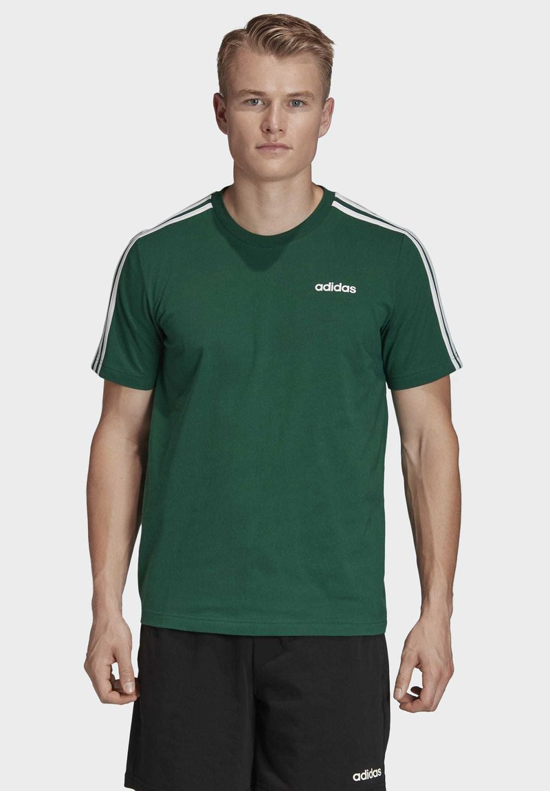 adidas Performance - ESSENTIALS 3-STRIPES T-SHIRT - T-shirts print - green