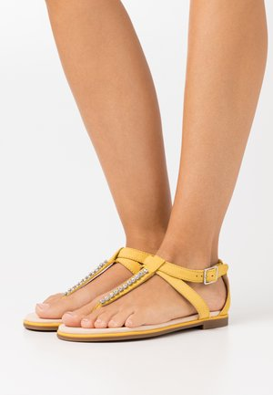BAY POPPY - T-bar sandals - yellow