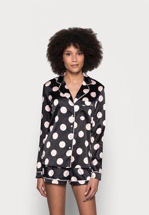 SPOT REVERE SHORT SET - Pyjama set - black