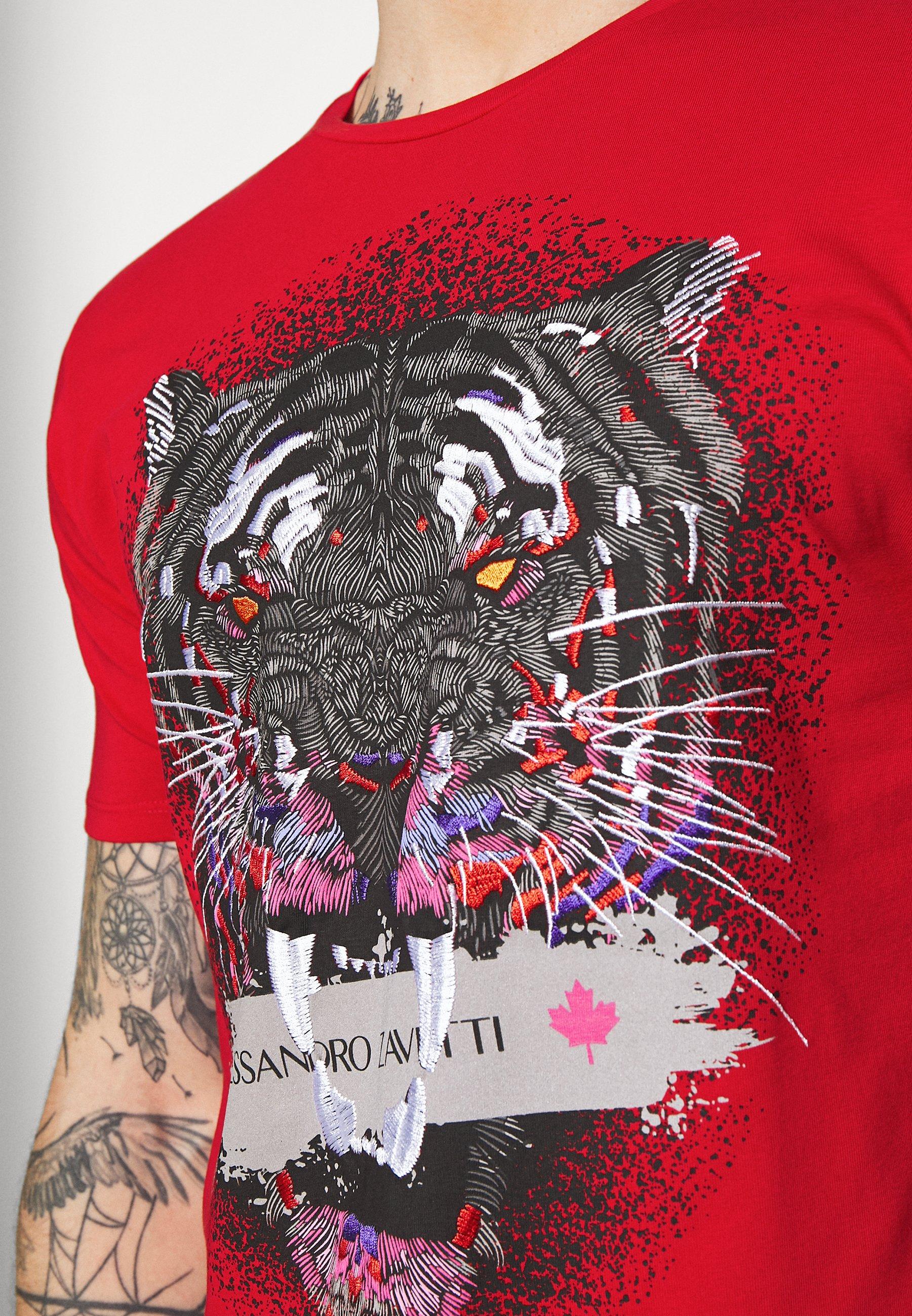 Alessandro Zavetti SAVAGE TEE - Print T-shirt - red Udh7T