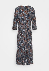 TOM TAILOR DENIM - PRINTED MIDI DRESS - Maxi dress - navy