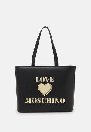 HEART LOGO SHOPPER - Shopping bags - nero