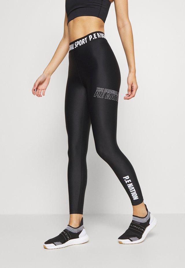 RACING LINE LEGGING - Legging - black