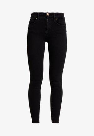 ONLPOWER MID PUSH UP - Jeans Skinny Fit - black