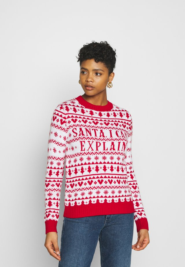 CHRISTMAS SANTA I CAN EXPLAIN - Sweter - red