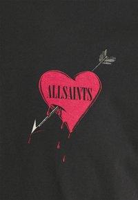 AllSaints - BLEEDING HEART  - Print T-shirt - jet black - 2