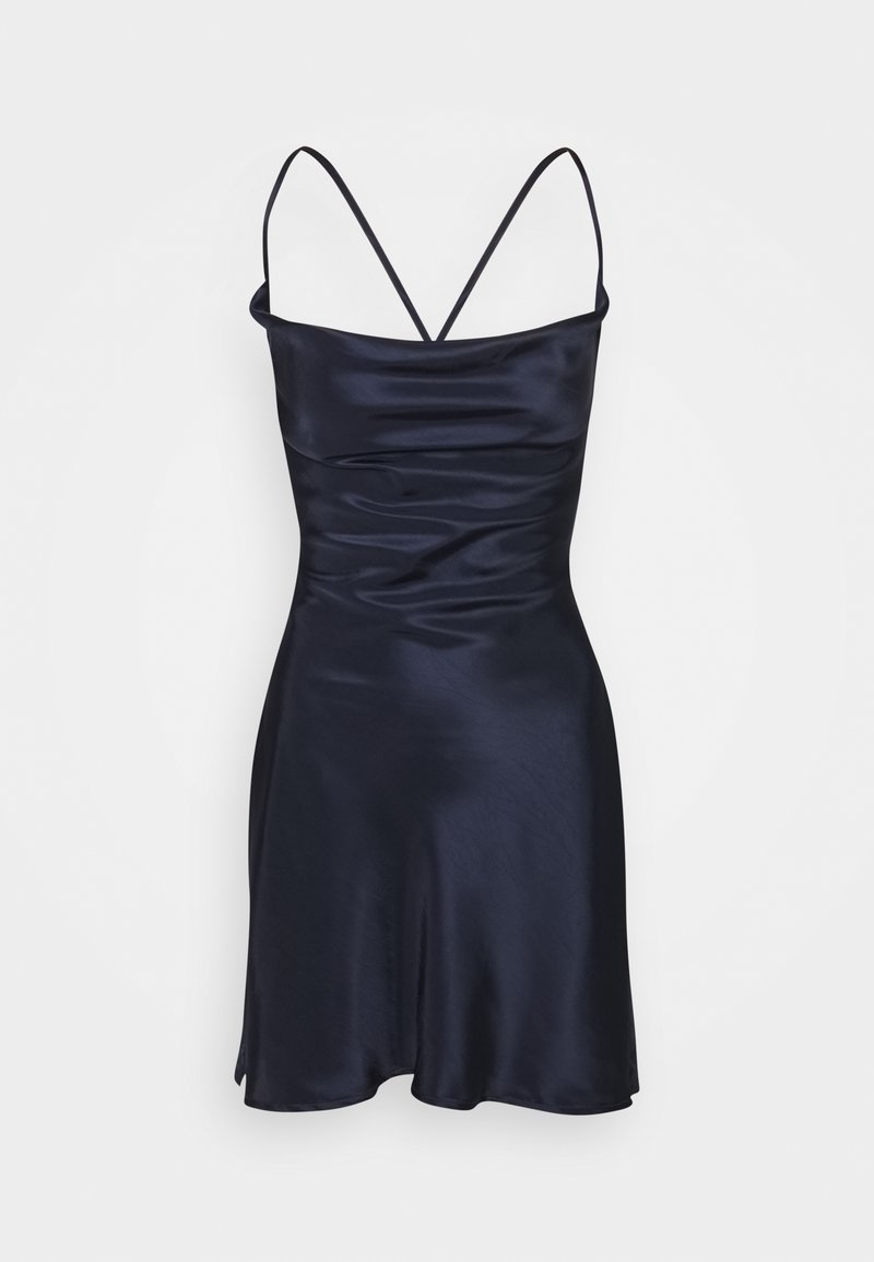 Missguided Petite - COWL CAMI DRESS TEXTURED  - Cocktailkjole - navy