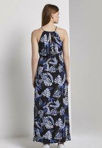 TOM TAILOR DENIM - TROPICAL  - Maxi dress - black blue tropical print - 2