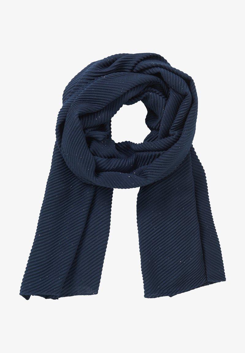 Vera Mont - MIT PLISSEE - Scarf - dark blue/silver