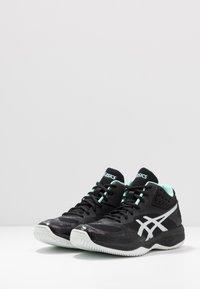 ASICS - NETBURNER BALLISTIC FF - Volleyball shoes - black/pure silver - 2