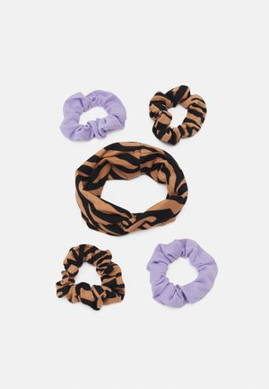 MINI SCRUNCHIE HEADBAND SET - Hair styling accessory - brown/lilac