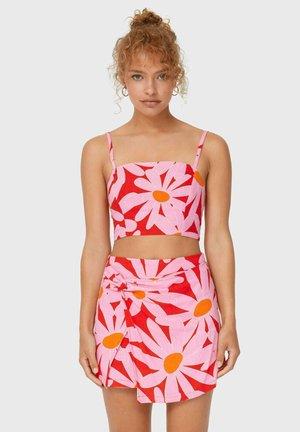 A-line skirt - mottled pink