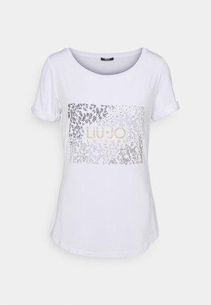 T-shirts med print - bianco