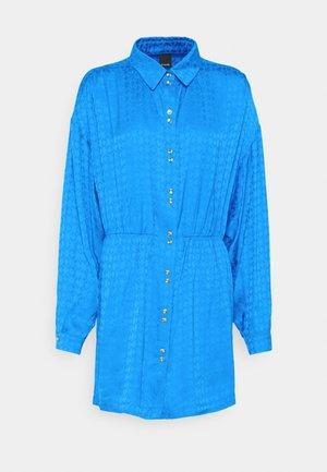 DEGNO ABITO JACQUARD GEOMETRICO - Shirt dress - light blue