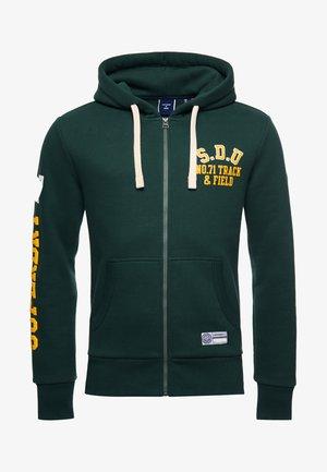 SUPERDRY TRACK & FIELD GRAPHIC - Zip-up hoodie - enamel green