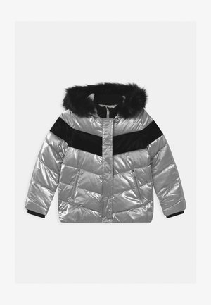 HOODED - Winter jacket - argent