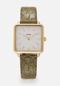 Cluse - LA TETRAGONE - Montre - gold-coloured/white/green - 0