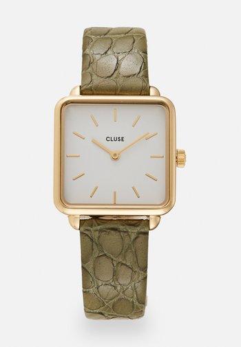 LA TETRAGONE - Watch - gold-coloured/white/green