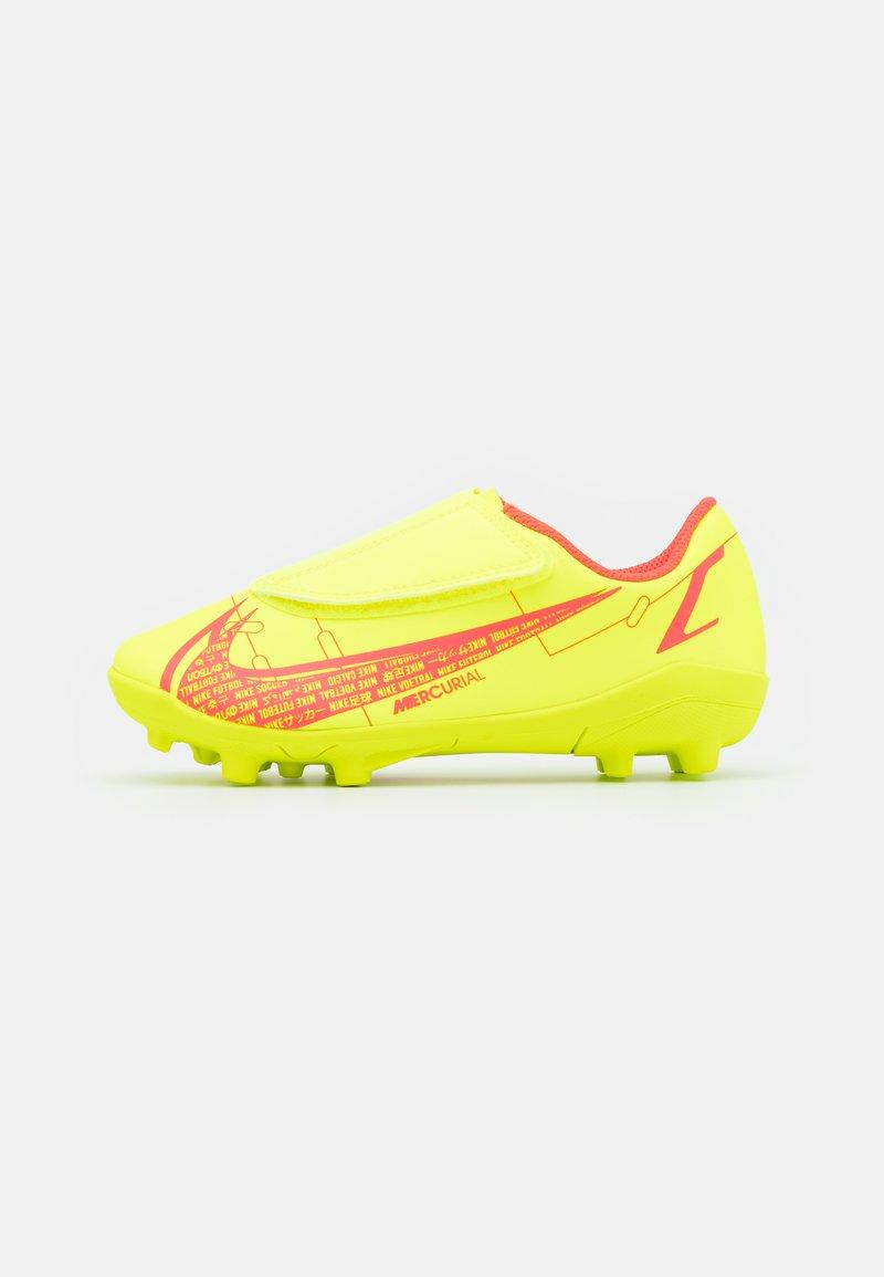 Nike Performance - MERCURIAL JR VAPOR 14 CLUB MG UNISEX - Moulded stud football boots - volt/bright crimson