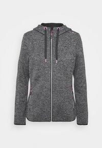 Campagnolo - WOMAN JACKET FIX HOOD - Fleece jacket - ghiaccio/graffite/nero - 4