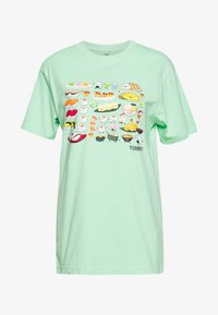 Merchcode - LADIES PICK A SUSHI TEE - T-shirts med print - neo mint - 0