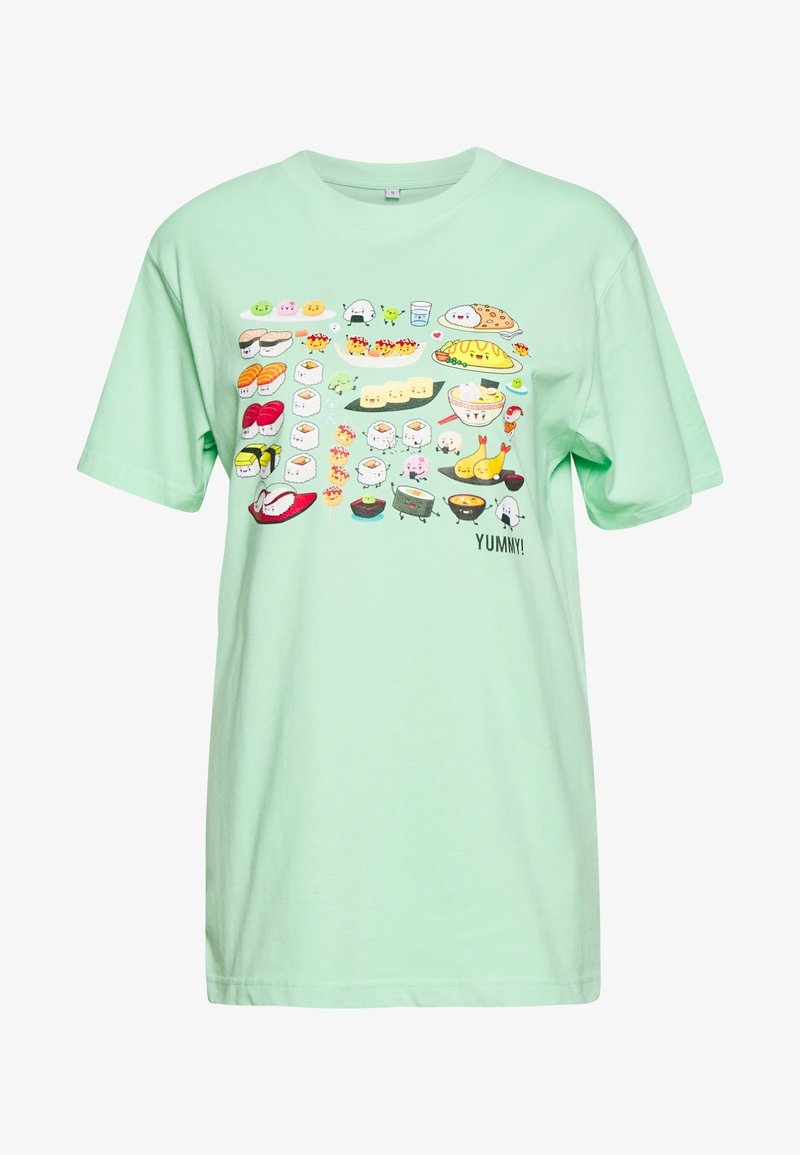 Merchcode - LADIES PICK A SUSHI TEE - T-shirts med print - neo mint