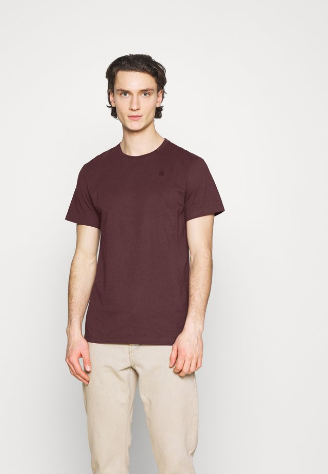 Basic T-shirt - dark fig