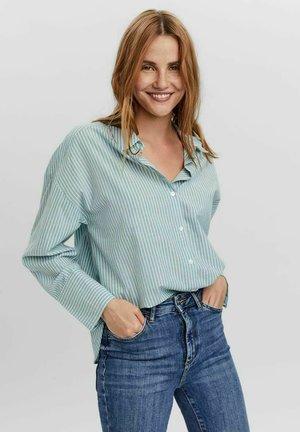 LANGÄRMELIG - Button-down blouse - oil blue