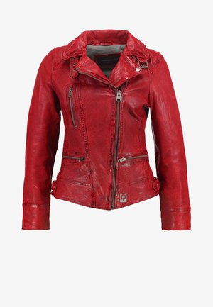 Leather jacket - feu