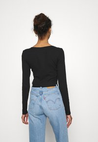 Monki - ALBA  - Longsleeve - black dark - 2