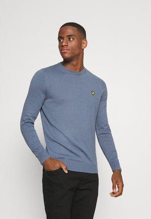 Stickad tröja - slate grey